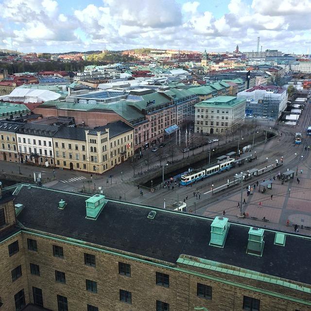 Bild på Göteborg ovanifrån