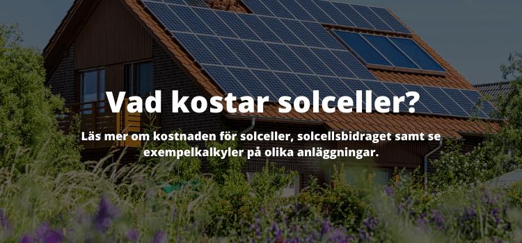 Solceller pris: vad kostar solceller?