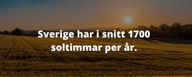 Sveriges soltimmar per år