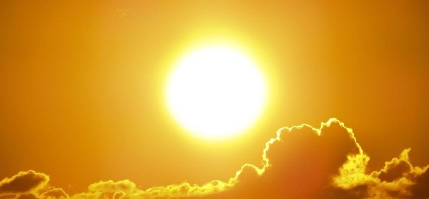 En bild på solen