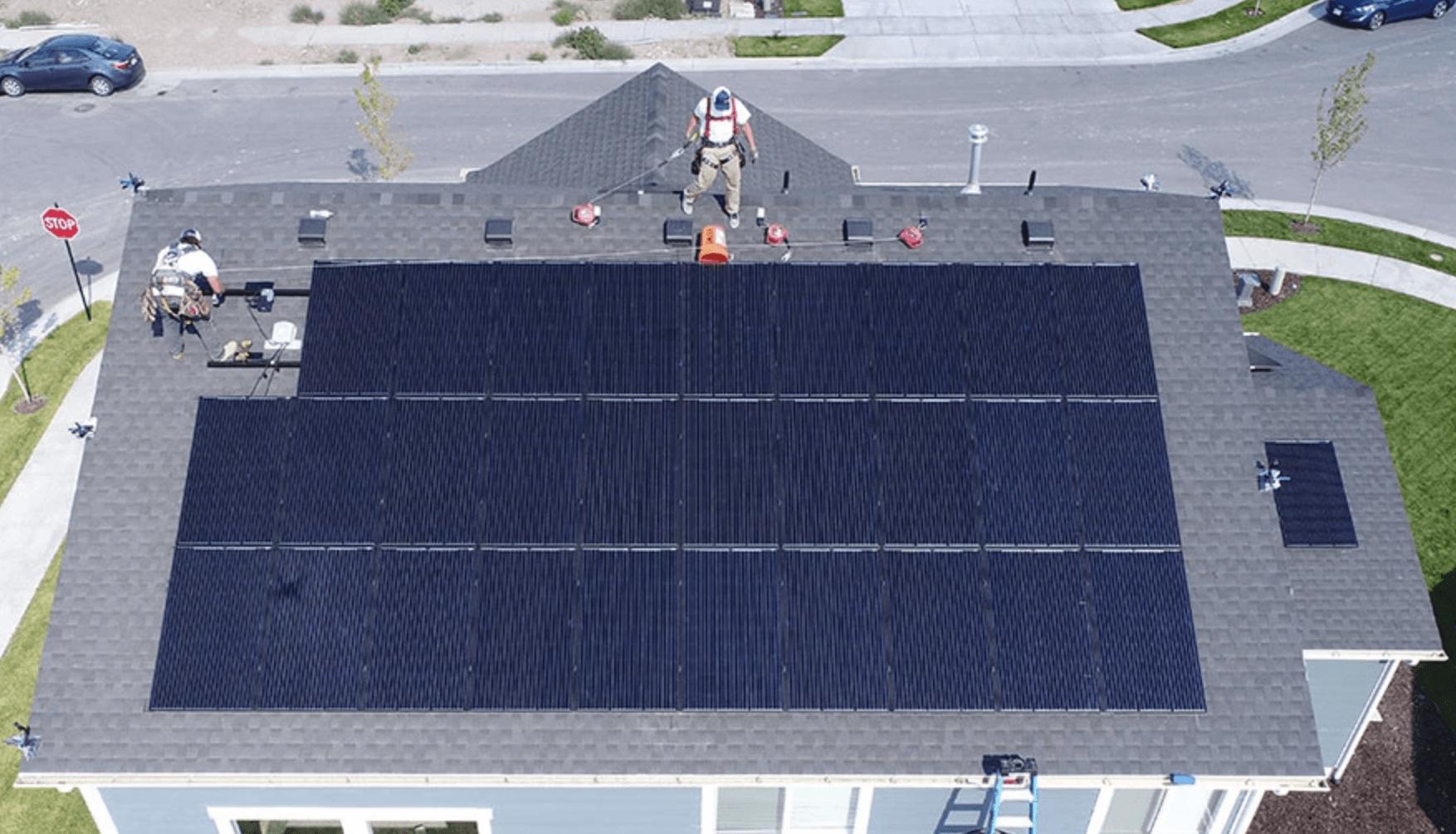 En installation av solceller