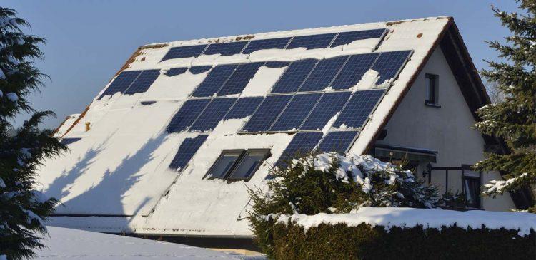 Solceller på vintern