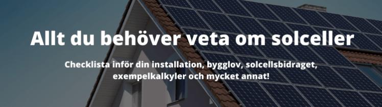 Solceller - Allt du behöver veta