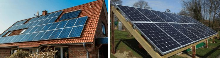 solceller på tak vs solceller på marken