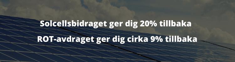 Solcellsbidrag & ROT-avdrag förklaring