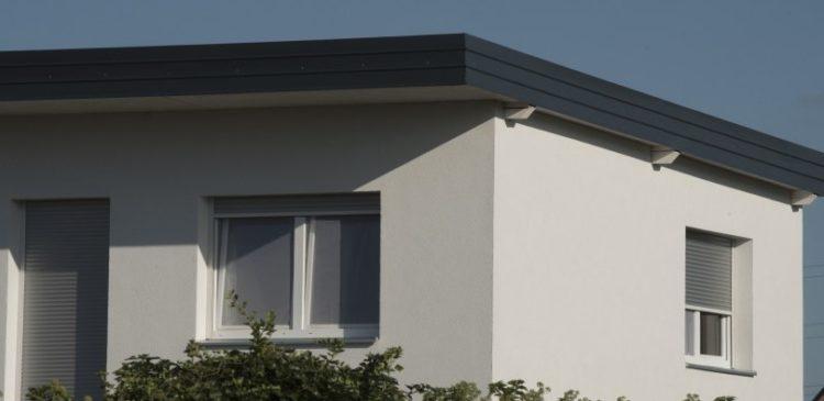 ett platt tak