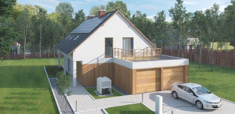 solpaneler på modernt hus