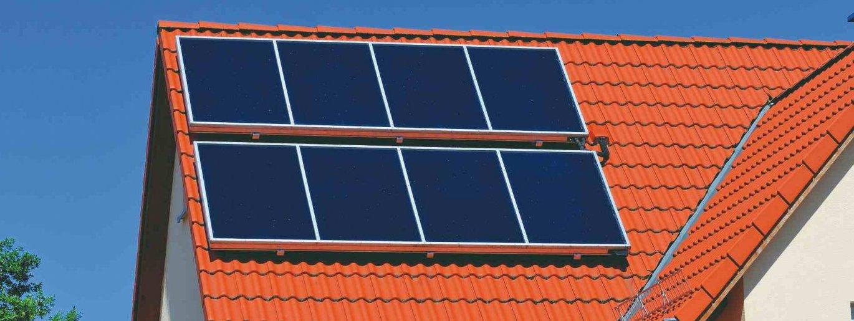solfångare på tak